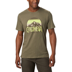 Columbia Basin Butte SS Graphic Tee Men, stone green branded sunshade